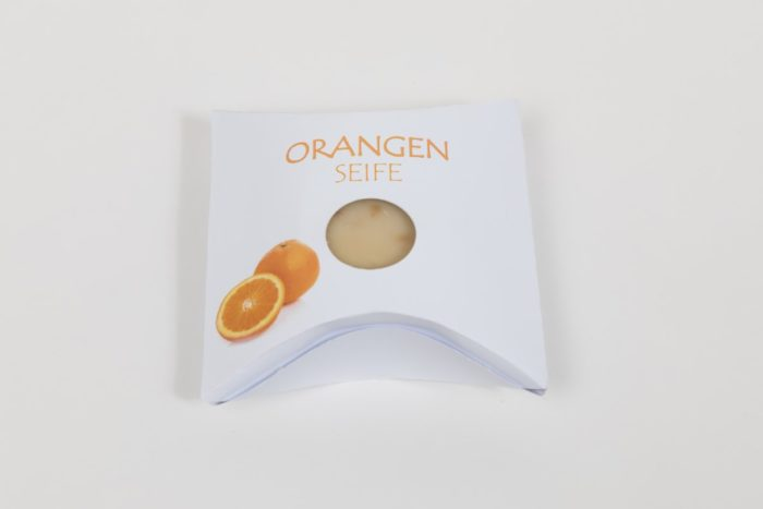 Orangen Natur und Gästeseife der Rosentaler Seifensiederei Lebenshilfe
