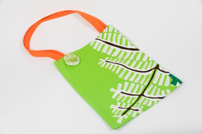 Stofftasche grüne Blätter Webshop Lebenshilfe Onlineshop