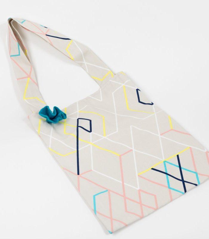 Stofftasche mit Linien