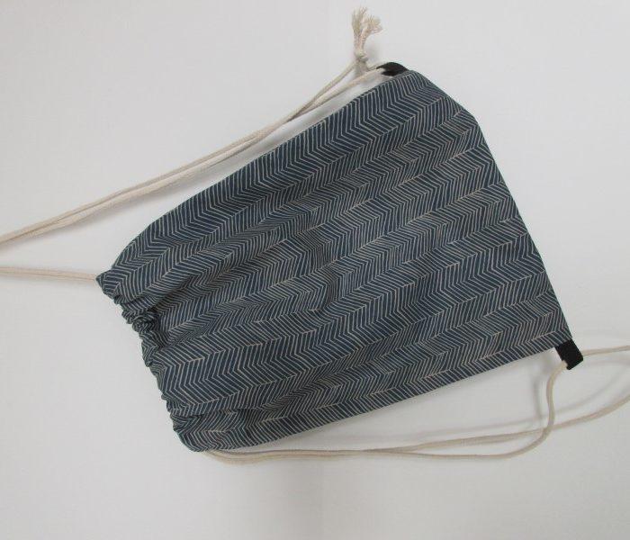 Rucksack blau gestreift