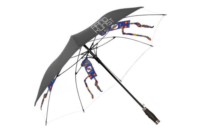 Randkunst Regenschirm Webshop Lebenshilfe Uhrturm
